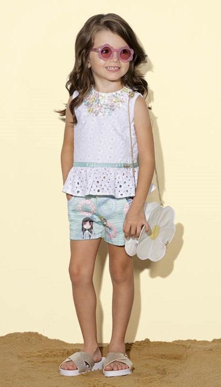 2b8fc08a8a Conjunto Infantil Luluzinha Regata e Shorts