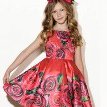 vestido vermelho com rosas pituchinhus