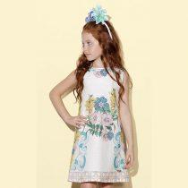 vestido infantil luluzinha floral branco