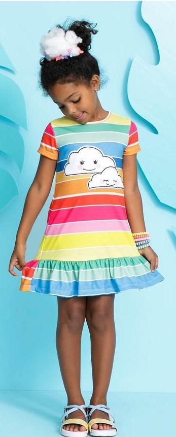 1b8e0bb839 Vestido Infantil MyLu Colorido