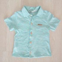 camisa manga curta oliver azul piscina frente