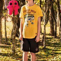 camiseta colcci kids rock amarela modelo
