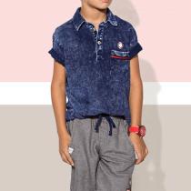camiseta oliver azul modelo