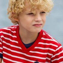 camiseta oliver listras vermelhas naval modelo