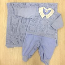 saida de maternidade beth bebe ursinho azul