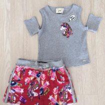 conjunto infantil anime shorts e blusinha