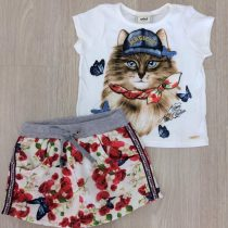 conjunto infantil feminio anime gato