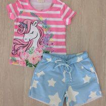 conjunto infantil luluzinha unicornio