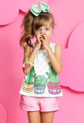 04663dafb0 Conjunto Infantil Mylu Blusinha e Shorts