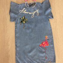 vestido infantil anime flamingo jeans