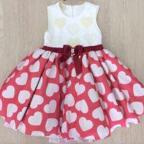 vestido infantil luluzinha rodado coracoes