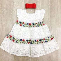 Vestido Infantil Bordado