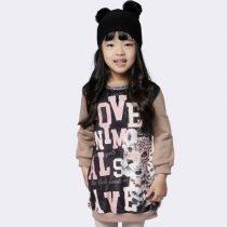 vestido blusao infantil luluzinha oncinha modelo