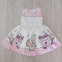 vestido festa infantil esquilos