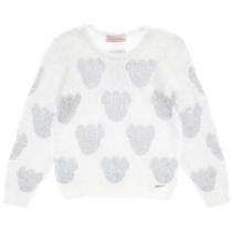 blusa infantil tricot pituchinhus ursinhos peludinhos frente