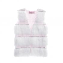 colete infantil pituchinhus tricot e pele fake