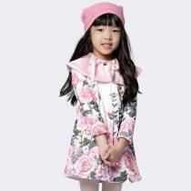 sobretudo infantil feminino luluzinha rosas floral