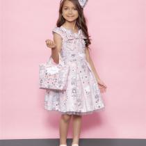 vestido infantil tricoline montessoriano lacos pituchinhus modelo
