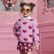 blusa infantil feminina tricot fluffy coraoes