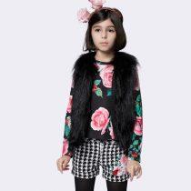 conjunto infantil feminino luluzinha rosas detalhe home