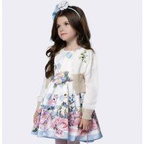 vestido infantil de festa luluzinha cisnes e rosas home