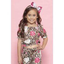 blusa infantil feminina ciganhinha onca e flores 1