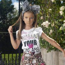 blusinha infantil Pituchinhus Follow Your Dreams modelo