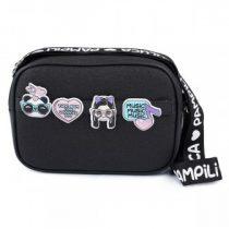 bolsa tiracolo da luluca com glitter e patches pampili
