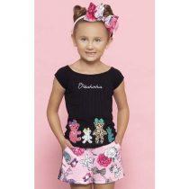 conjunto infantil feminino pituchinhus blusa e shorts 1