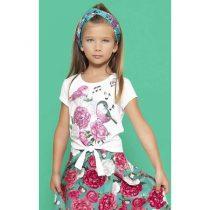 conjunto pituchinhus blusa passinhos e saia floral 1