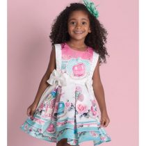 vestido infantil de festa luluzinha doces e lacos modelo