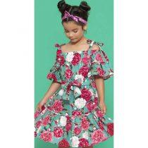 vestido infantil floral pituchinhus verao modelo