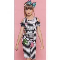 vestido midi infantil pituchinhus i love music 1