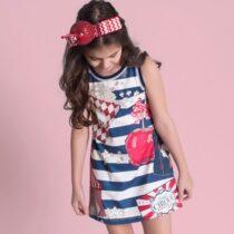 vestido infantil trapezio luluzinha guloseimas