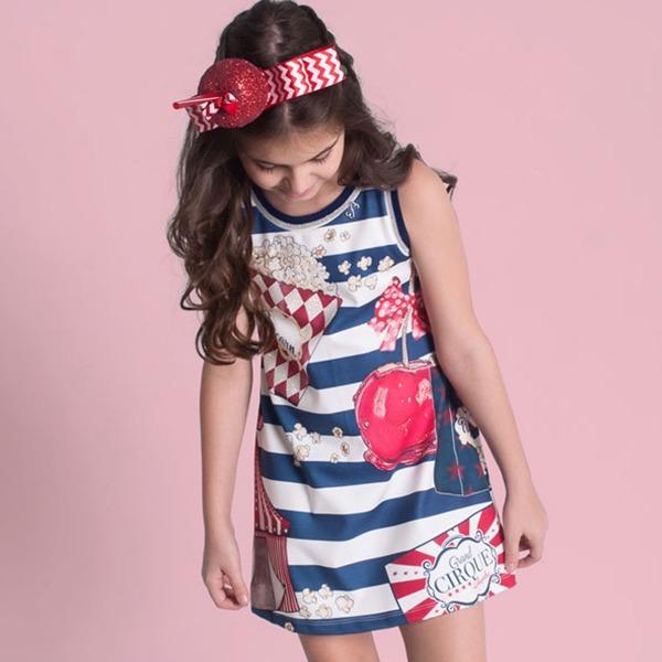 Vestido Infantil Luluzinha Trapézio Guloseimas